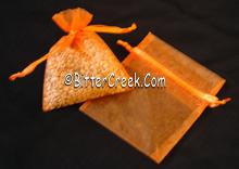 "3"" x 4"" Pumpkin Organza Bags"