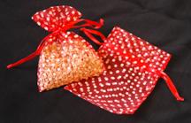 "3"" x 4"" Red Polka Dot Organza Bags"