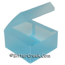 "4"" x 4"" x 2"" Blue Frosted Box *Surplus"