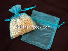 """3"""" x 4"""" Turquoise Organza Bags"""