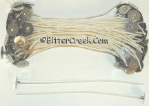 "2/0 Square Braid Cotton 8"" Tabbed Wicks"