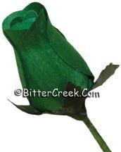 Emerald Green Wood Roses