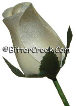 Silver/White Wood Roses