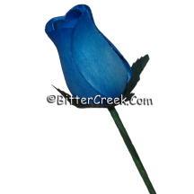 Blue Fade Wood Roses