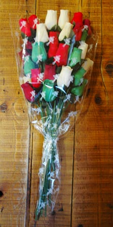 Cellophane Wooden Rose Large Sleeve