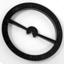 Round Black Wick Centering Holder (Standard Mason Jar)