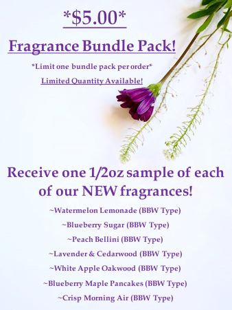 Fragrance Sample Bundle Pack! (7 fragrances) *While Supplies last!