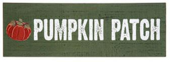 "Pumpkin Patch Wooden Sign (11.75x4"")"
