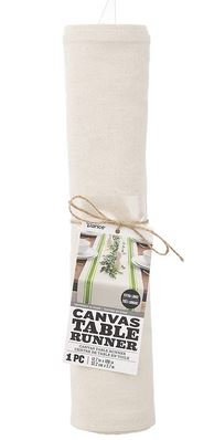 "Canvas Table Runner (12.75""x9ft) *NEW"