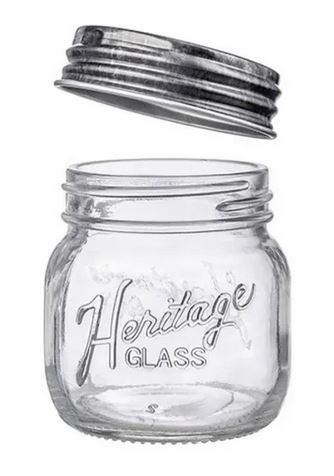 9oz Heritage Mason Jar w/Lid (6/cs) *NEW *Limited Quantity Available!