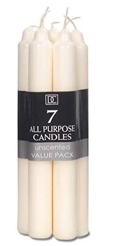 "7"" Ivory Candles (7pc) *NEW"