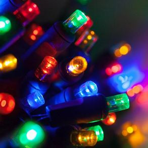 20 Multi-color LED Mini Lights on Green Wire *NEW