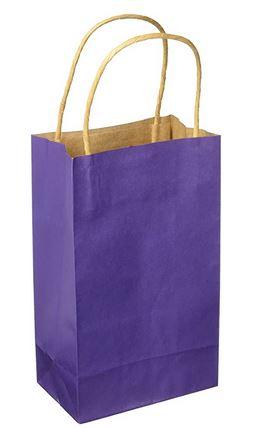"Purple Paper Handle Bag (5.25x8.75x3.125"") *NEW"