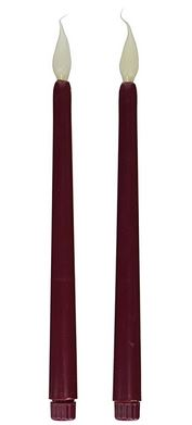 """11"""" Burgundy Silicone Tip Tape Candle (2pk) *NEW"""