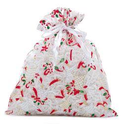 """Christmas jingle Bell Fabric Bag (6x8"""") - 12pk *NEW"""