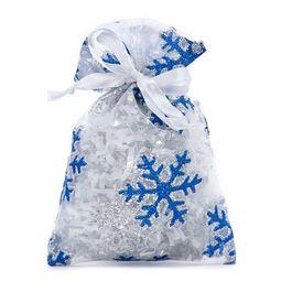 Blue Snowflake Fabric Bag (6x8') - 12pk *NEW