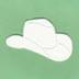 Cowboy Hat Air Freshener Blank