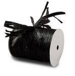 """Black """"Raffia Ribbon"""" Roll *NEW"""