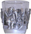 Tumbler with Pewter Santa Claus w/ Bag *Surplus