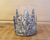 Tumbler with Pewter Santa Claus with Holly & Sticks *Surplus