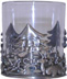 Tumbler with Pewter Christmas Tree with Reindeer & Holly *Surplus
