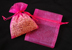 "3"" x 4"" Hot Pink Organza Bags"