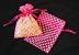 """3"""" x 4"""" Hot Pink Polka Dot Organza Bags"""