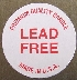 "1"" Lead Free Labels"
