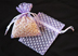 "3"" x 4"" Purple Polka Dot Organza Bags"