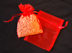 "3"" x 4"" Red Organza Bags"
